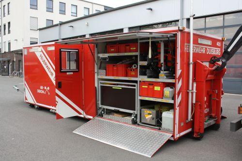 Dusche Von Innen Verputzen Welcher Aufbau : AB-Dekon der Feuerwehr Duisburg .